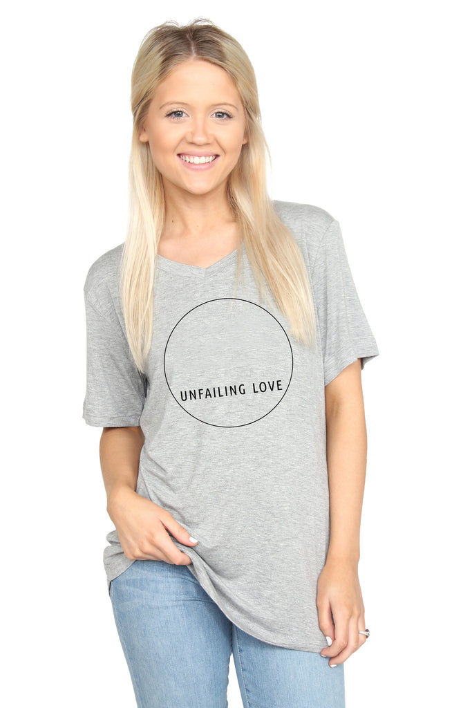 Unfailing Love: V-neck Tee