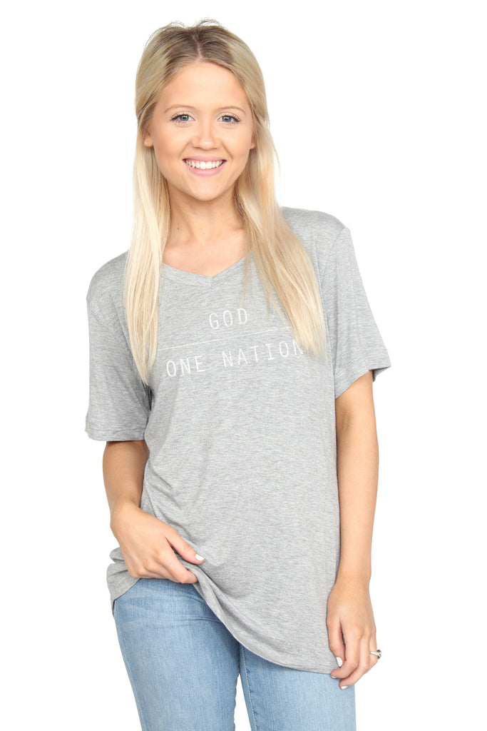 One Nation Under God: V-Neck Tee