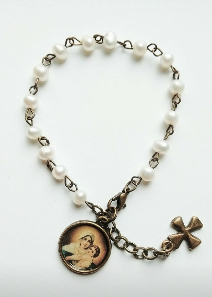 Madonna and Child Bracelet by Sue Kouma Johnson
