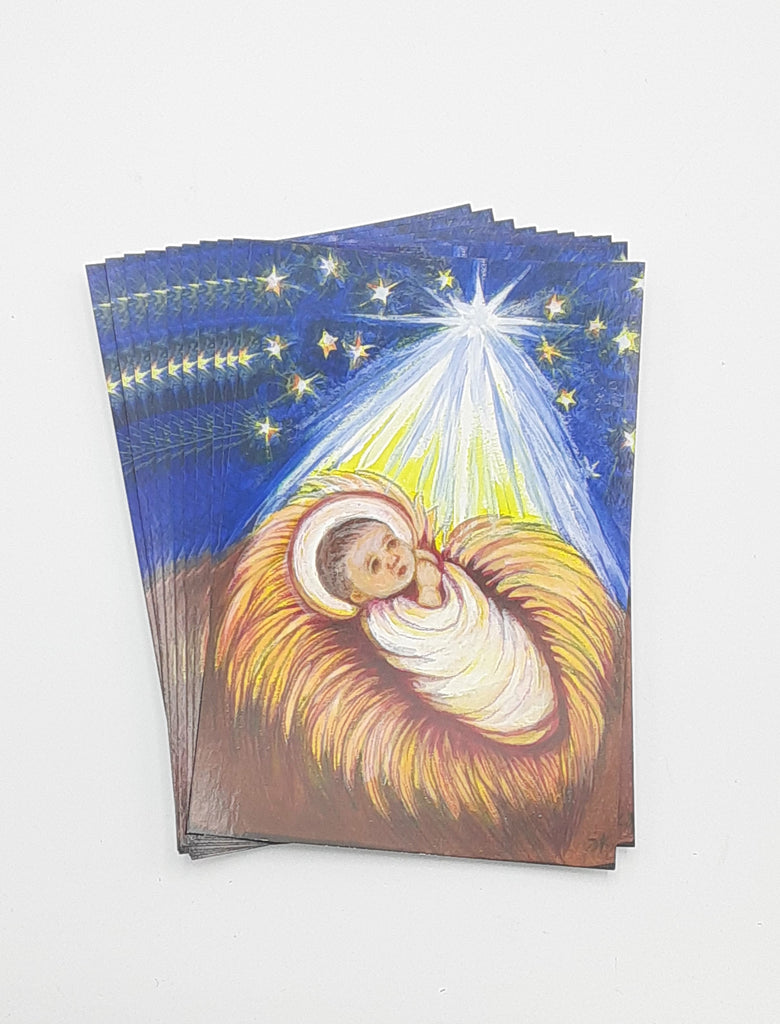 Baby Jesus Postcard / Holy Card  – pack of 10