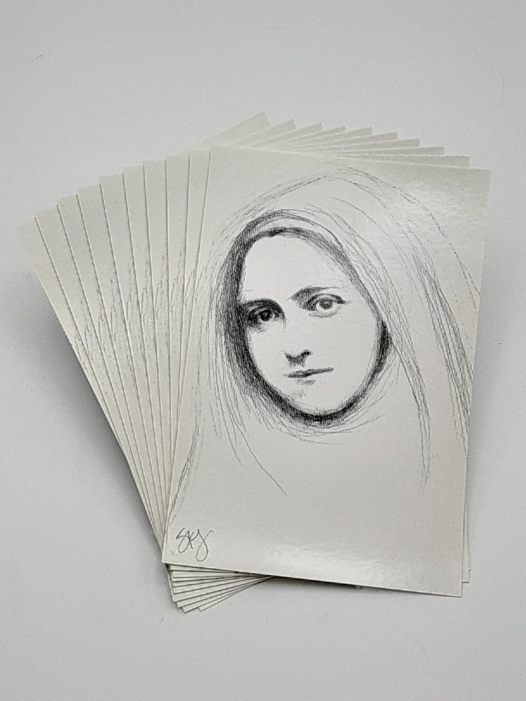Therese of Lisieux Pencil Sketch Postcard