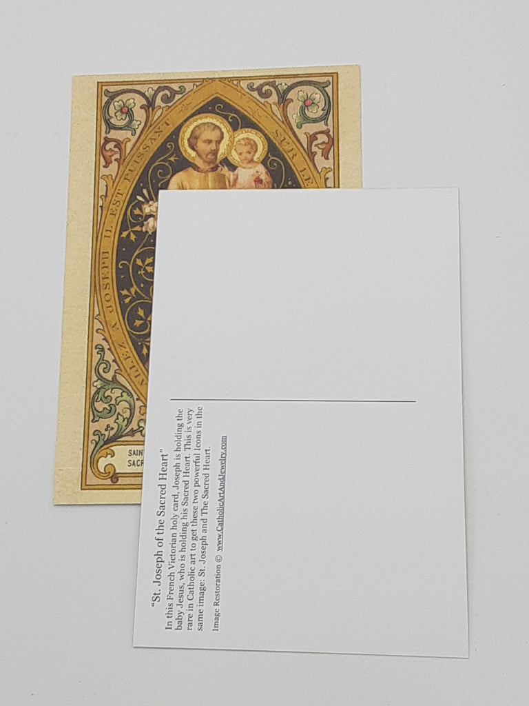 St Joseph of the Sacred Heart Postcard
