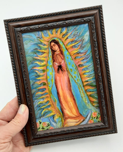 Lady of Guadalupe Framed Postcard