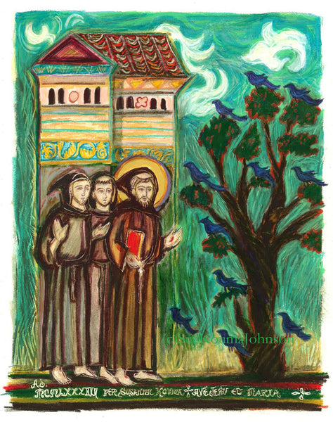 Saint Francis and Companions Art Print