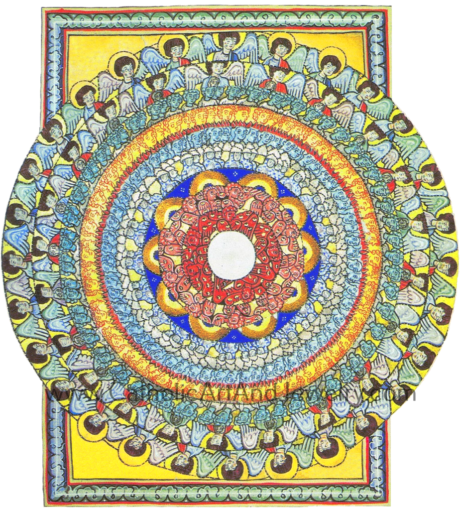 Hildegard of Bingen's Art: All Beings Celebrate Creation – 8.5x11""
