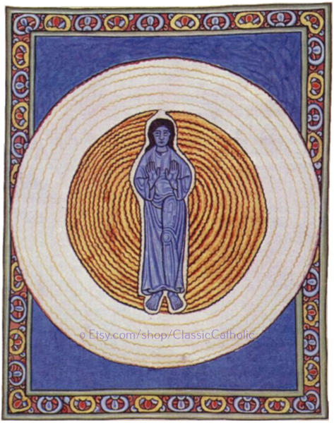 Hildegard of Bingen's Art: The True Trinity in True Unity – 8.5x11""