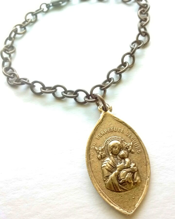 Bronze Mother of Perpetual Help Bracelet