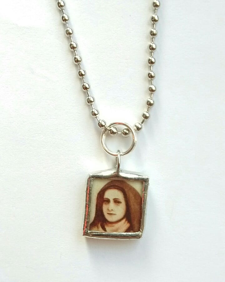 New! Limited Edition Tiny Therese of the Child Jesus and the Holy Face Necklace