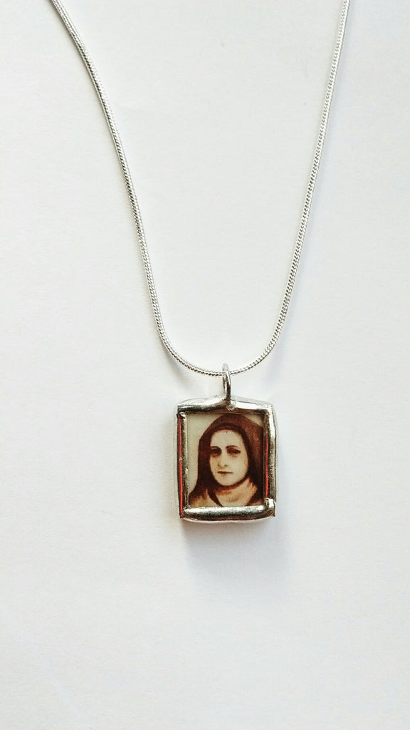 Limited Edition Tiny Therese of the Child Jesus and the Holy Face Necklace