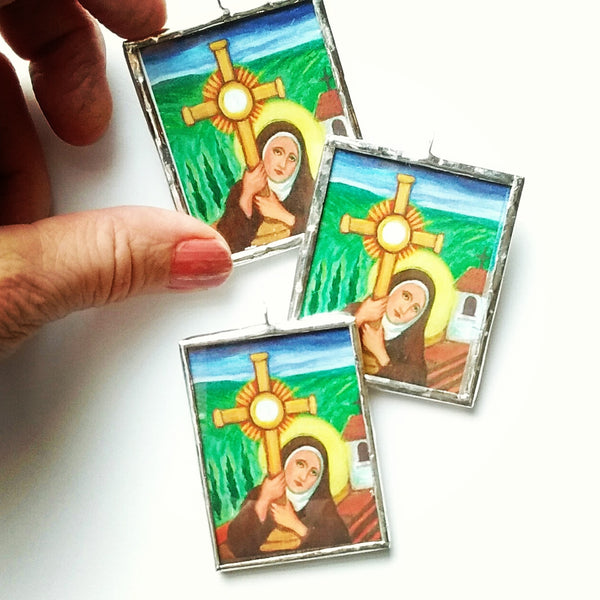 Saint Clare of Assisi Ornament - New!