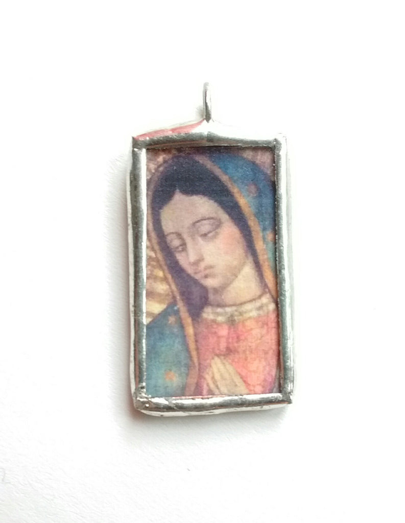 Our Lady of Guadalupe Pendant from Juan Diego's Tilma