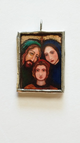 Holy Family Pendant Medal