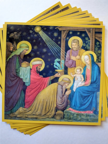 New! Unique Christmas Cards Painted by Benedictine Monks