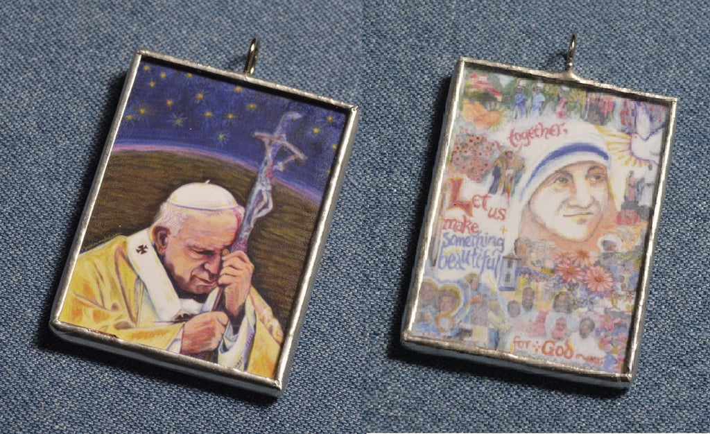 Saint John Paul II and Mother Teresa Ornament