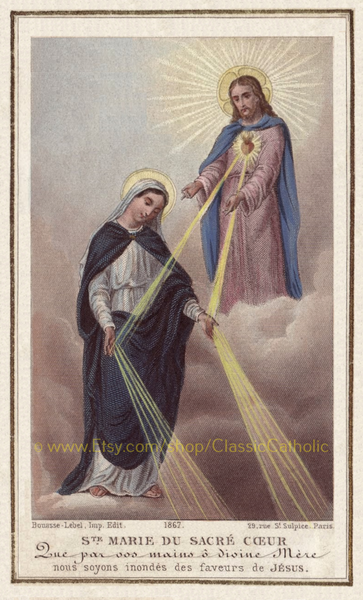 St. Mary of the Sacred Heart – Mediatrix of Grace – 8.5x11""