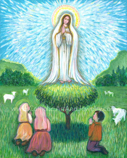 Our Lady of Fatima Art print