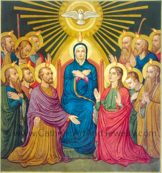 "The Descent of the Holy Spirit Pentecost– 8.5x11""– Benedictine Art– New!"
