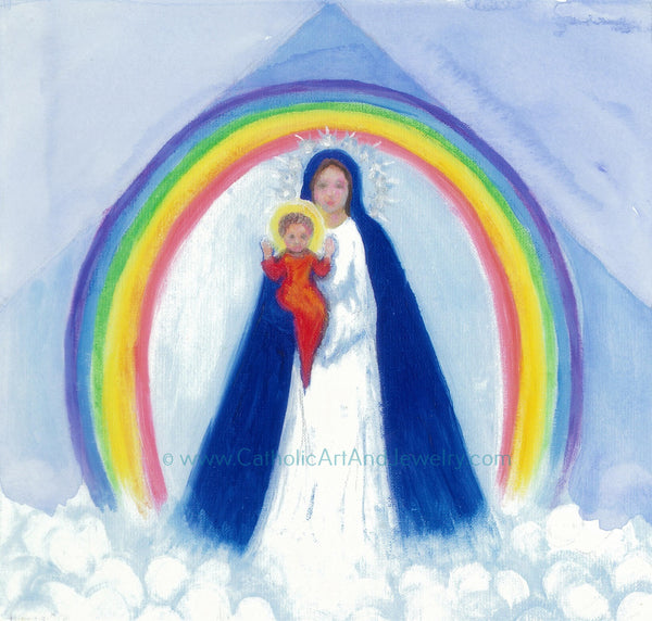 Our Lady of the Rainbow Art Print