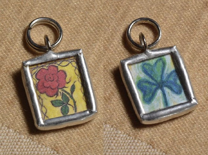 Rose and Shamrock Pendant