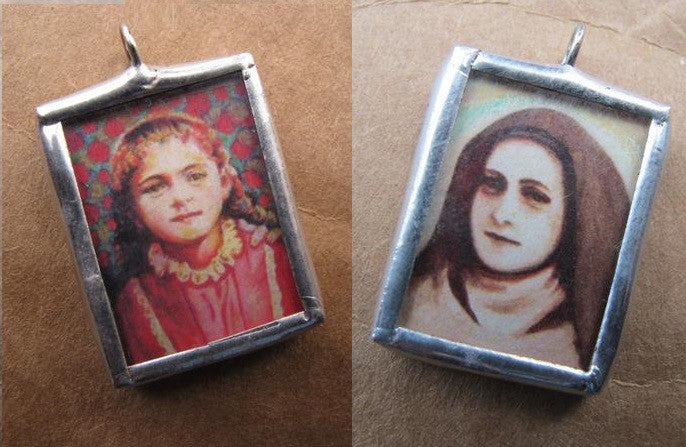 St Therese of the Child Jesus Double Image Medal
