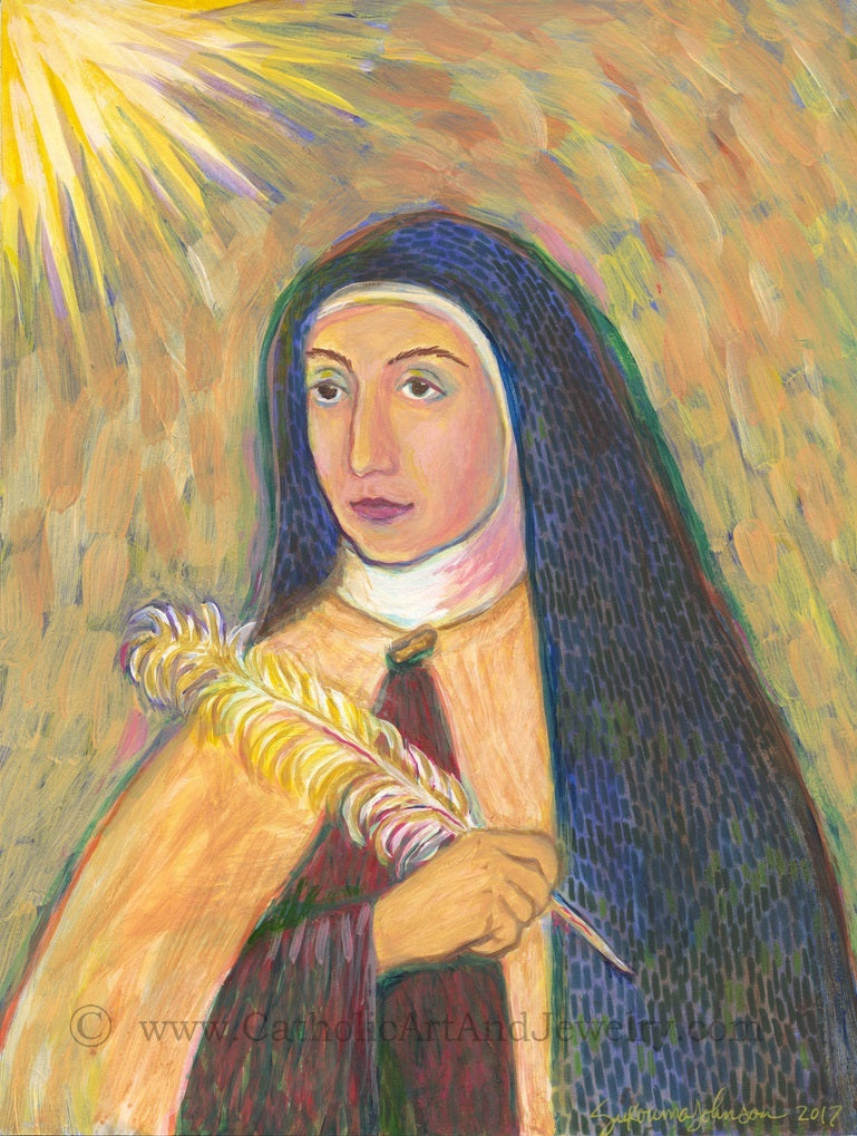 St Teresa of Avila Print -- New!