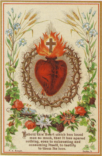 "Sacred Heart of Jesus – 8.5x11"" Art Print"