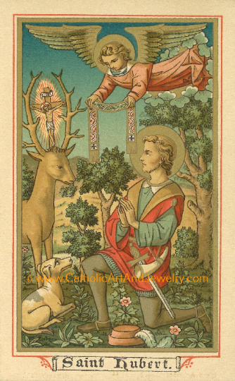 St. Hubert – Patron of Hunters – 8.5x11""