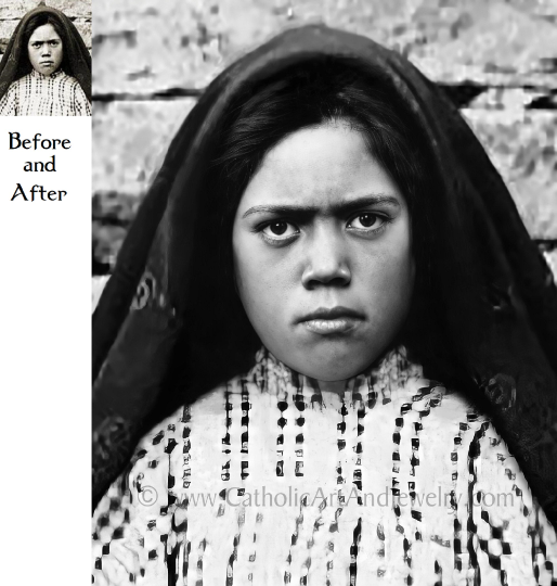 "Exclusive! Fatima Lucia Restored Photo – 8.5x11"" or 11x14"" Print"