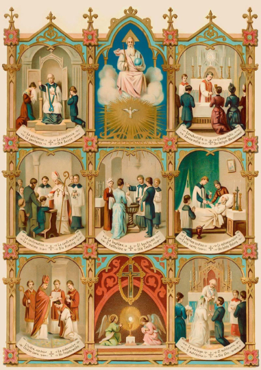 "Seven Sacraments – 8.5x11"" or 11x14"" Print"