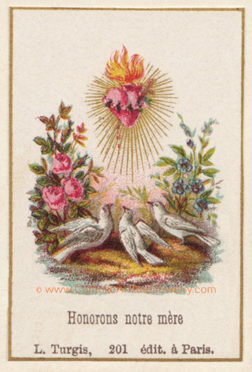 "Immaculate Heart of Mary ""Honor Our Mother"" Victorian Print"