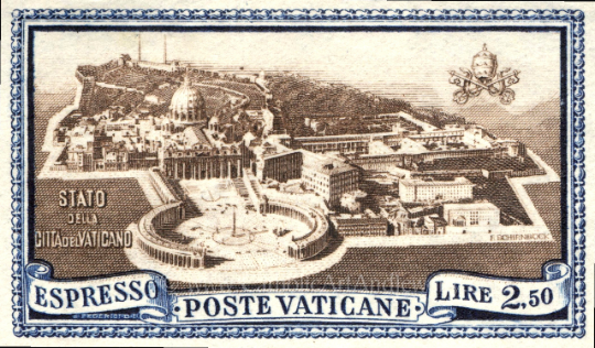 "Vatican Postage Stamp – 8.5x11"" Catholic Art Print"