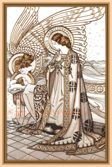 "Mary, Jesus, and Angel –8.5x11"" Print"