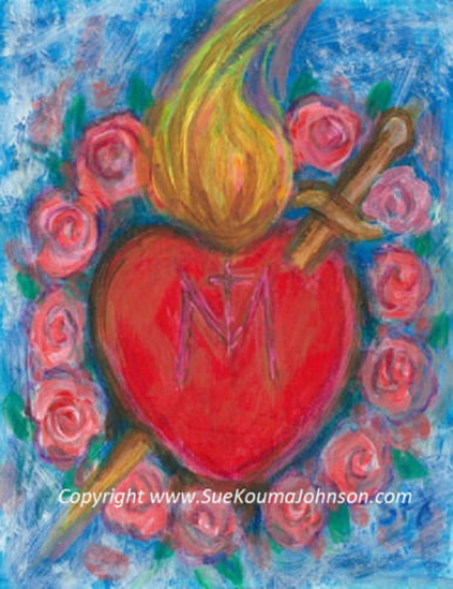 Immaculate Heart of Mary Fine Art Print