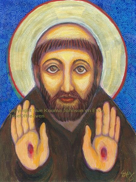 St Francis' Blessing Art Print
