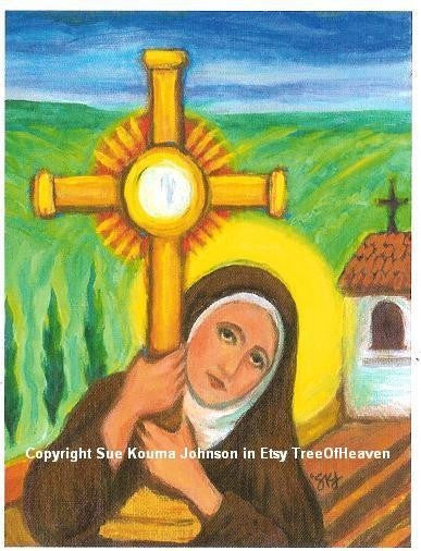 Saint Clare of Assisi Art Print