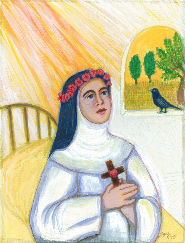 Saint Rose of Lima Painting