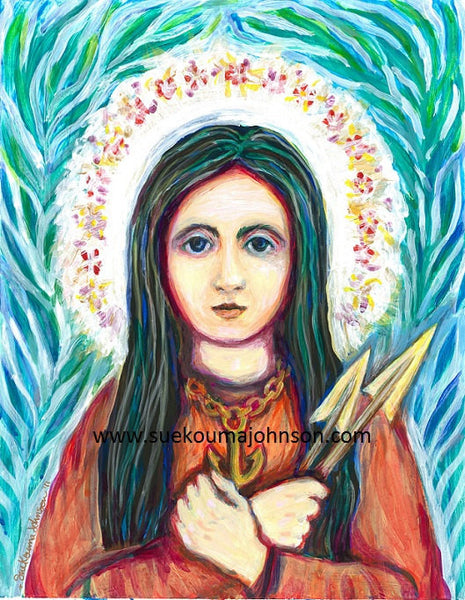 Saint Philomena Art Print
