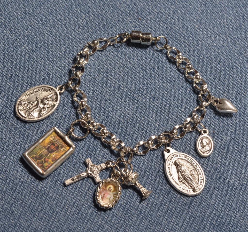 Black Madonna and JP II Charm Bracelet
