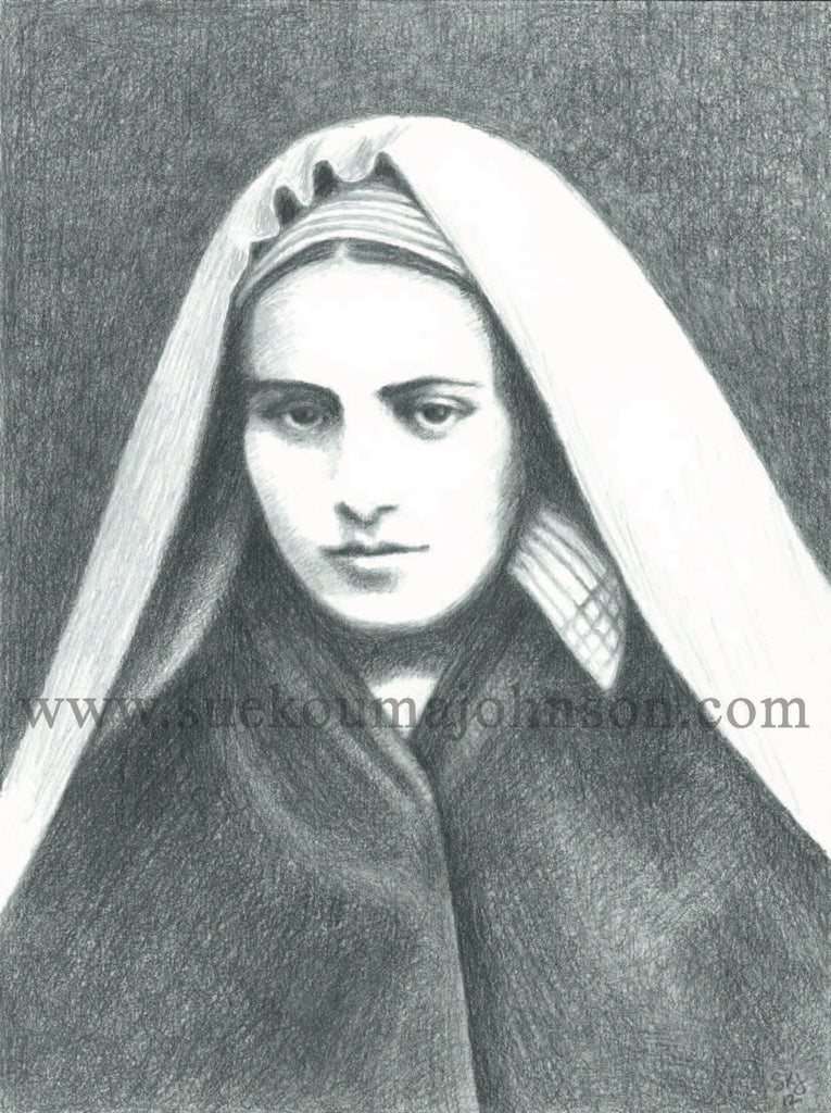 Saint Bernadette of Lourdes Art Print