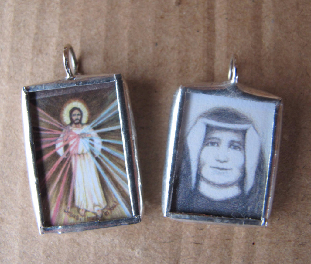 Divine Mercy and St Faustina Double Sided Medal