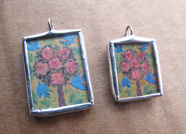 Rose Tree Pendant or Charm