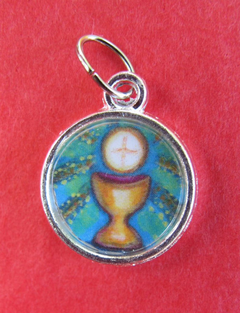 Round Eucharist Medal with Optional Necklace