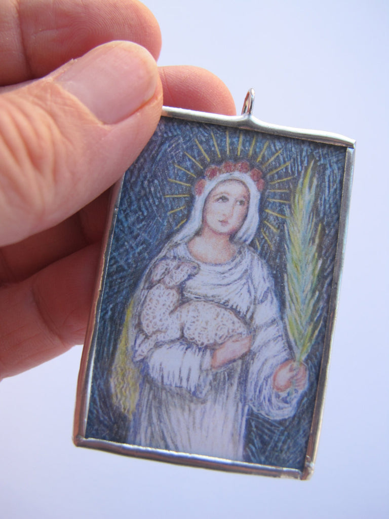 St Agnes Ornament or Pendant