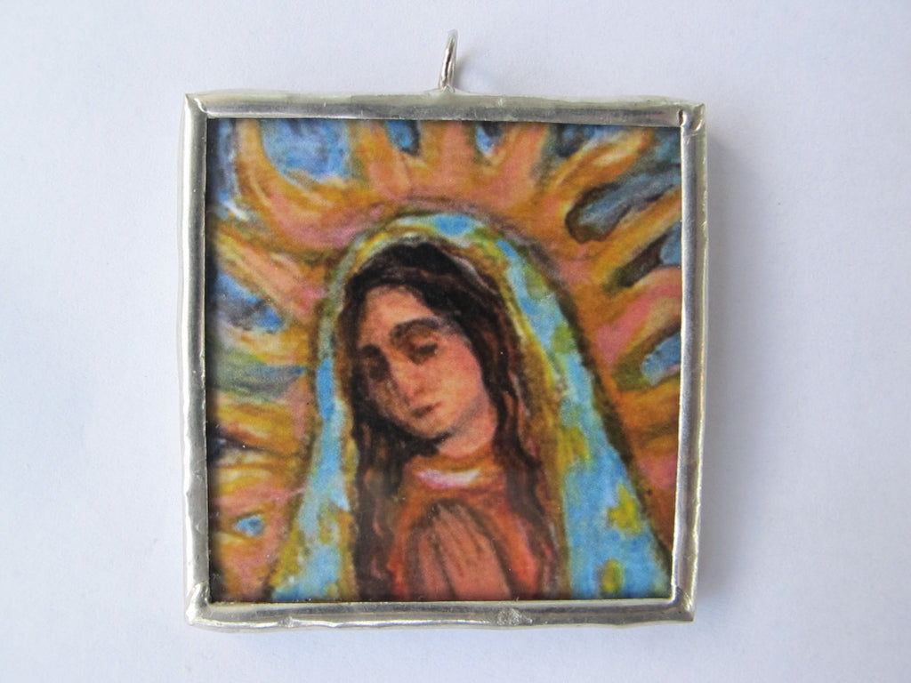 Our Lady of Guadalupe Square Ornament