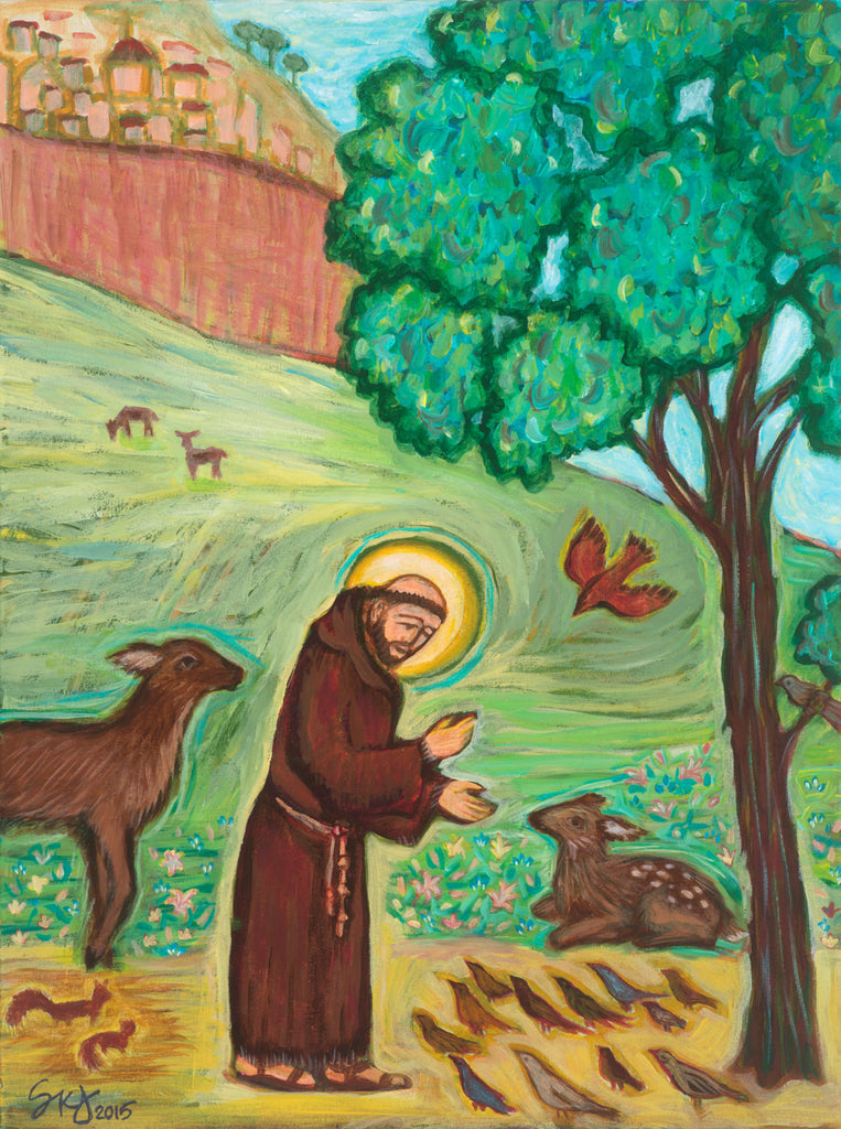 Saint Francis Preaching to the Birds Art Print