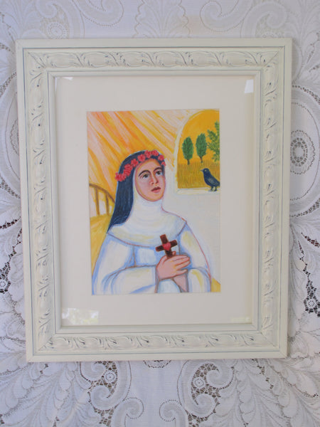Rose of Lima Painting