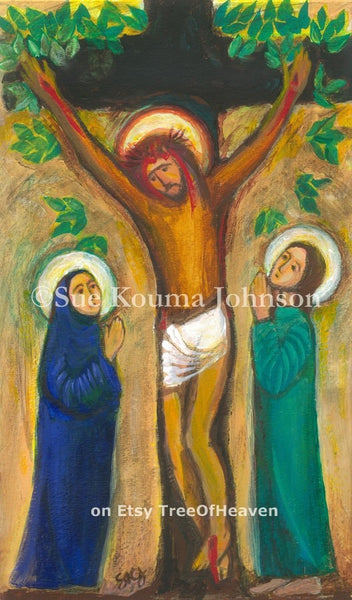 Tree of Life Crucifixion Art Print