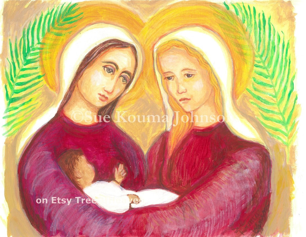 Saints Perpetua and Felicity Art Print