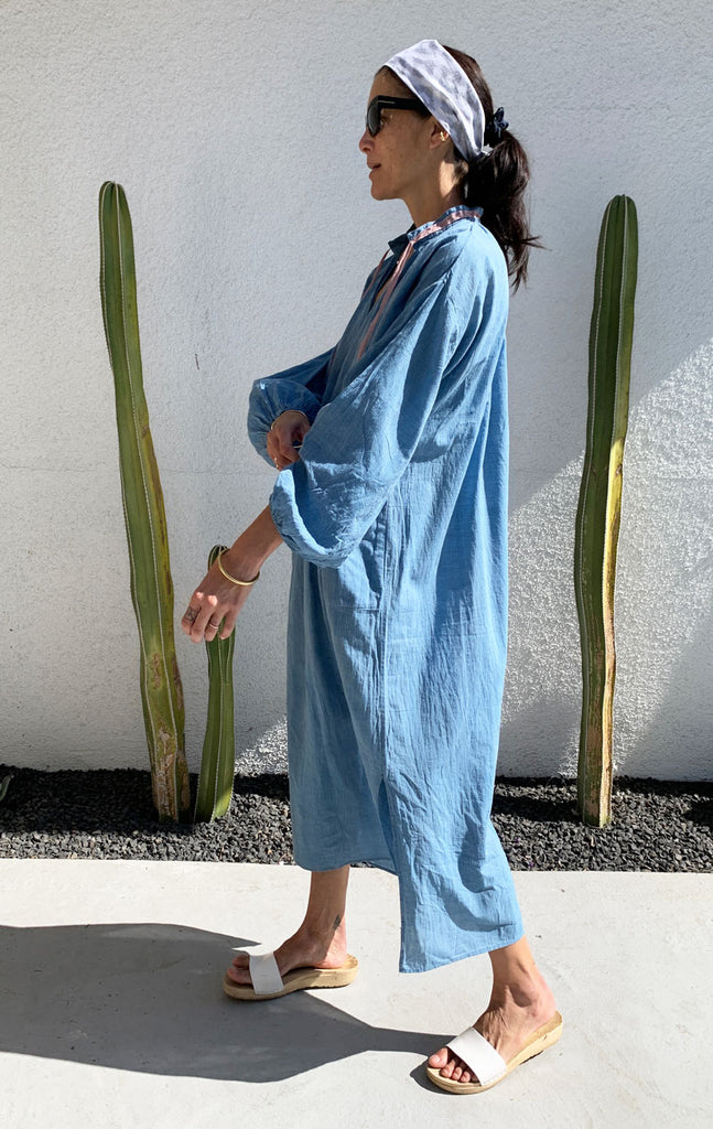 Chambray caftan-presale