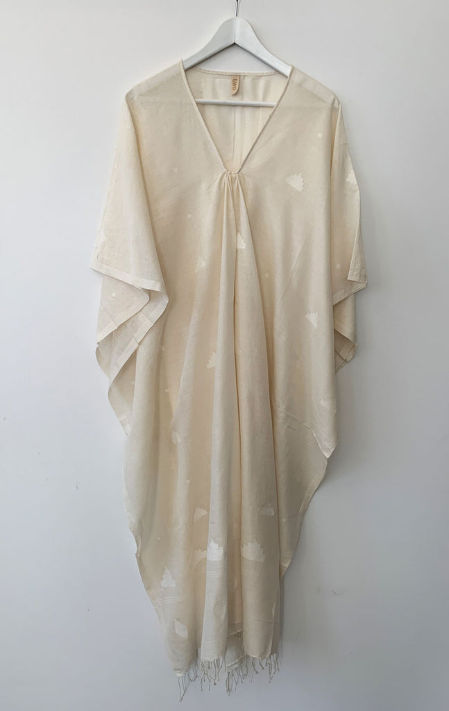 Natural khadi caftan